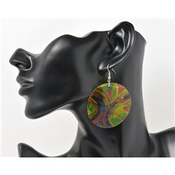 1p Boucles Oreilles en nacre naturelle Collection SHELLY Fashion 69603