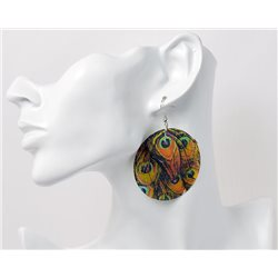 1p Boucles Oreilles en nacre naturelle Collection SHELLY Fashion 69591