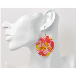 1p Boucles Oreilles en nacre naturelle Collection SHELLY Fashion 69588