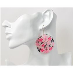 1p Boucles Oreilles en nacre naturelle Collection SHELLY Fashion 69582