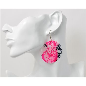 1p Boucles Oreilles en nacre naturelle Collection SHELLY Fashion 69581