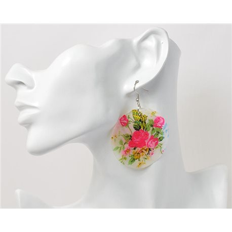 1p Boucles Oreilles en nacre naturelle Collection SHELLY Fashion 69574