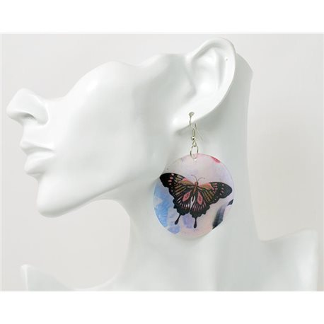 1p Boucles Oreilles en nacre naturelle Collection SHELLY Fashion 69572