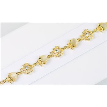 Bracelet métal Gold Color serti de Strass L19 cm Collection Alison Bijoux 76026