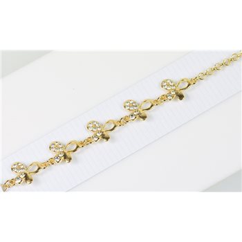 Bracelet métal Gold Color serti de Strass L19 cm Collection Alison Bijoux 76028