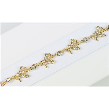 Bracelet métal Gold Color serti de Strass L19 cm Collection Alison Bijoux 76030