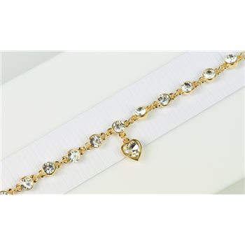 Bracelet métal Gold Color serti de Strass L19 cm Collection Alison Bijoux 76036