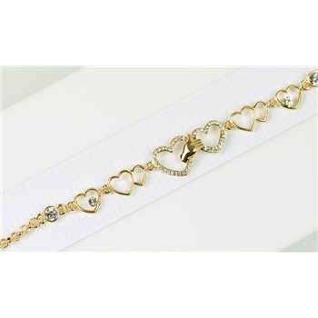 Bracelet métal Gold Color serti de Strass L19 cm Collection Alison Bijoux 76038