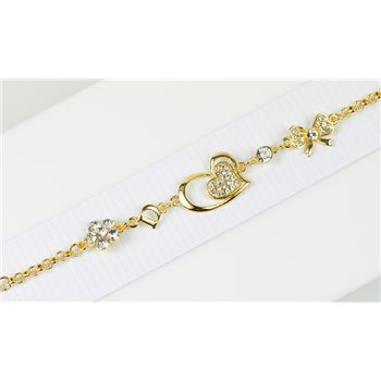 Bracelet métal Gold Color serti de Strass L19 cm Collection Alison Bijoux 76040