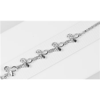 Bracelet métal Silver Color serti de Strass L19 cm Collection Alison Bijoux 76027