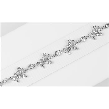Bracelet métal Silver Color serti de Strass L19 cm Collection Alison Bijoux 76029