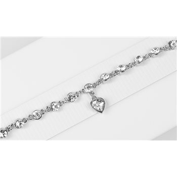 Bracelet métal Silver Color serti de Strass L19 cm Collection Alison Bijoux 76035