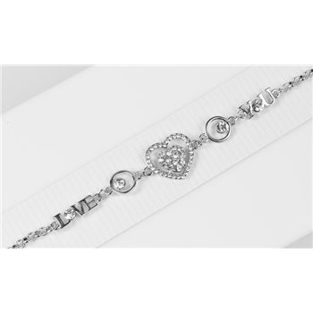 Bracelet métal Silver Color serti de Strass L19 cm Collection Alison Bijoux 76041