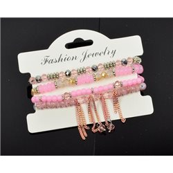 Bracelet extensible Manchette 4 rangs Passion de Perles Collection Shaya Bijoux 76000