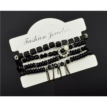 Bracelet extensible Manchette 4 rangs Passion de Perles Collection Shaya Bijoux 75995