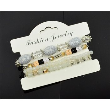 Bracelet extensible Manchette 4 rangs Passion de Perles Collection Shaya Bijoux 75993