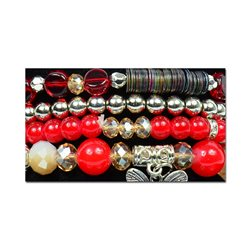 Bracelet extensible Manchette 4 rangs Passion de Perles Collection Shaya Bijoux 75992