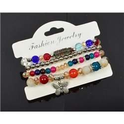 Bracelet extensible Manchette 4 rangs Passion de Perles Collection Shaya Bijoux 75991
