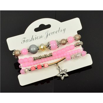 Bracelet extensible Manchette 4 rangs Passion de Perles Collection Shaya Bijoux 75990