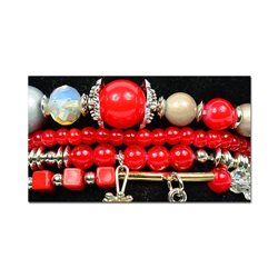Bracelet extensible Manchette 4 rangs Passion de Perles Collection Shaya Bijoux 75989