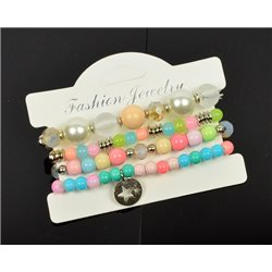 Bracelet extensible Manchette 4 rangs Passion de Perles Collection Shaya Bijoux 75988