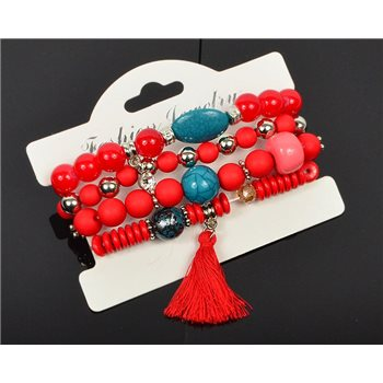 Bracelet extensible Manchette 4 rangs Passion de Perles Collection Shaya Bijoux 75984