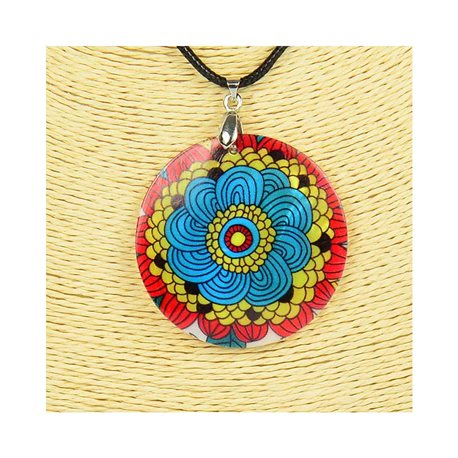 Pendentif en nacre de Coquillages peint Collection Collier SHELLY Fashion 76258