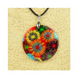 Pendentif en nacre de Coquillages peint Collection Collier SHELLY Fashion 76252