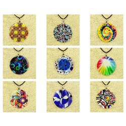 Pendentif en nacre de Coquillages peint Collection Collier SHELLY Fashion 76249