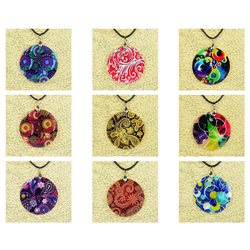 Pendentif en nacre de Coquillages peint Collection Collier SHELLY Fashion 76236