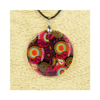 Pendentif en nacre de Coquillages peint Collection Collier SHELLY Fashion 76235
