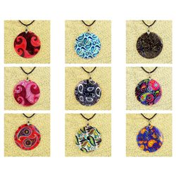 Pendentif en nacre de Coquillages peint Collection Collier SHELLY Fashion 76226