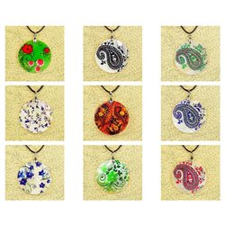 Pendentif en nacre de Coquillages peint Collection Collier SHELLY Fashion 76220