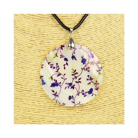 Pendentif en nacre de Coquillages peint Collection Collier SHELLY Fashion 76217