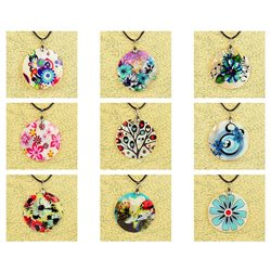 Pendentif en nacre de Coquillages peint Collection Collier SHELLY Fashion 76215