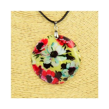 Pendentif en nacre de Coquillages peint Collection Collier SHELLY Fashion 76207