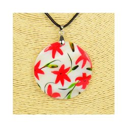 Pendentif en nacre de Coquillages peint Collection Collier SHELLY Fashion 76205