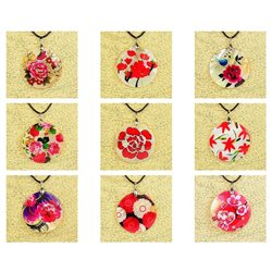 Pendentif en nacre de Coquillages peint Collection Collier SHELLY Fashion 76202