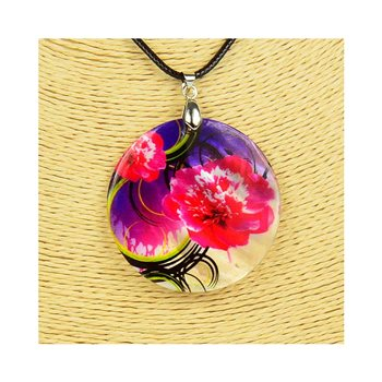 Pendentif en nacre de Coquillages peint Collection Collier SHELLY Fashion 76198