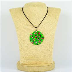Pendentif en nacre de Coquillages peint Collection Collier SHELLY Fashion 76191