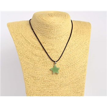 Pendentif (20mm) en Pierre naturelle Aventurine Collection Collier MILEVA Bijoux 75922