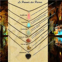 Pendentif (20mm) en Pierre naturelle SandStone Collection Collier MILEVA Bijoux 75921