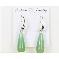 1p Boucles Oreilles 25mm en Pierre naturelle Aventurine Collection MILEVA 75982