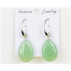 1p Boucles Oreilles 25mm en Pierre naturelle Aventurine Collection MILEVA 75970