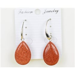 1p Boucles Oreilles 25mm en Pierre naturelle SandStone Collection MILEVA 75969