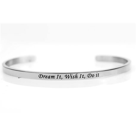 Bracelet Jonc en Acier Inoxydable 76419 Message: Dream It, Wish It, Do It
