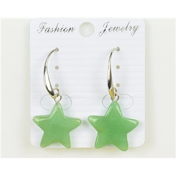 1p Boucles Oreilles 20mm en Pierre naturelle Aventurine Collection MILEVA 75958