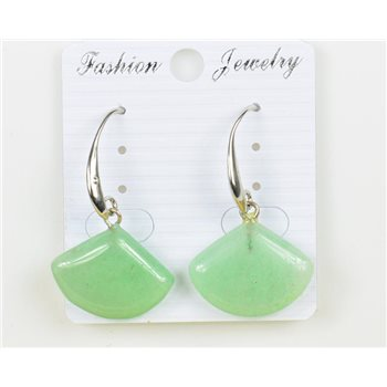 1p Boucles Oreilles 20mm en Pierre naturelle Aventurine Collection MILEVA 75964
