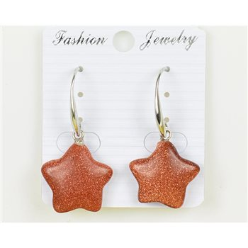 1p Boucles Oreilles 20mm en Pierre naturelle SandStone Collection MILEVA 75957