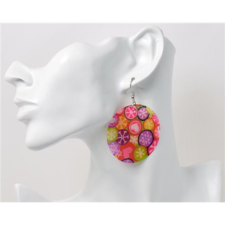 1p Boucles Oreilles en nacre naturelle Collection SHELLY Fashion 69613